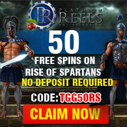 Platinum Reels Casino 50 Free Spins No Deposit