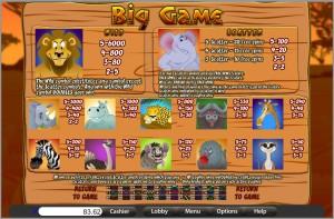 Big-Game-Paytable