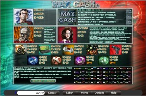 Max-Cash-Video-Slot-Paytable