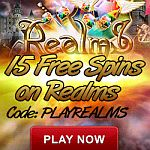 15 Free Spins Offer on NEW Realms Video Slot