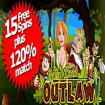 15 Free Spins Offer on NEW Robin Hood Outlaw