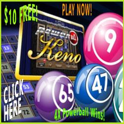Click Here to Get $10 Free to try Powerball Keno